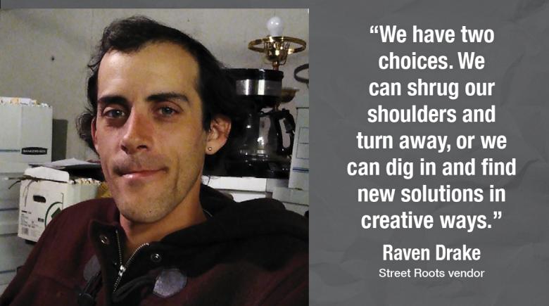 Street Roots vendor Raven