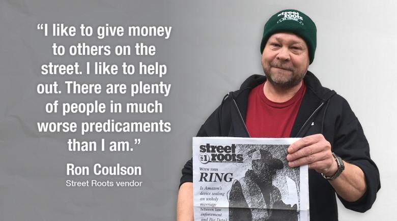 Street Roots vendor Ron