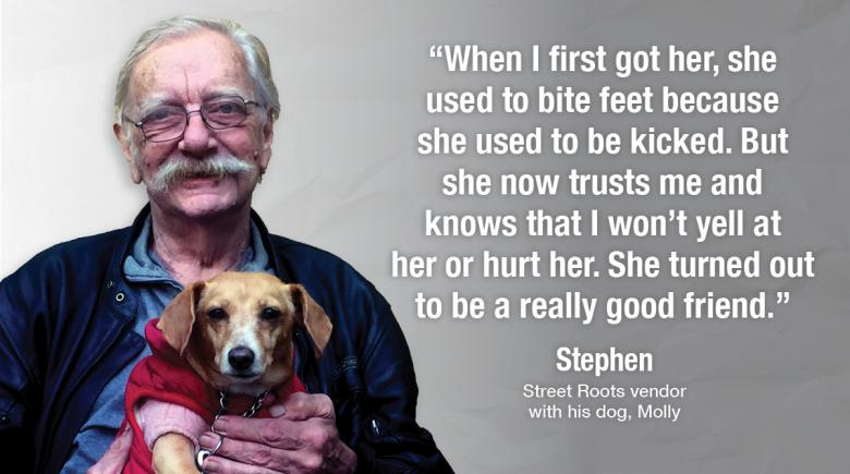 Stephen and his dog, Molly