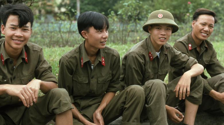 Vietnamese men in uniform