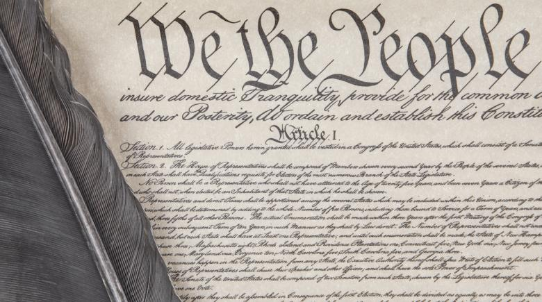 Photo illustration of the U.S. Constitution
