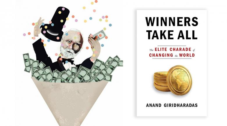 """Winners Take All"" illustration and book cover"