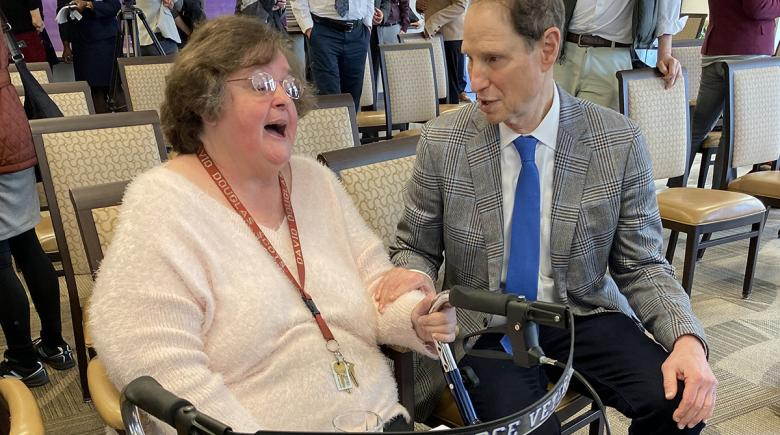 Ron Wyden and Susan Dooley