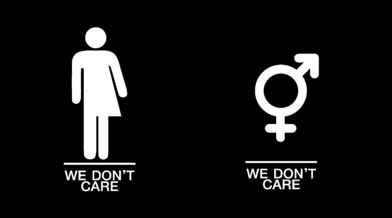 Gender-neutral bathroom signs