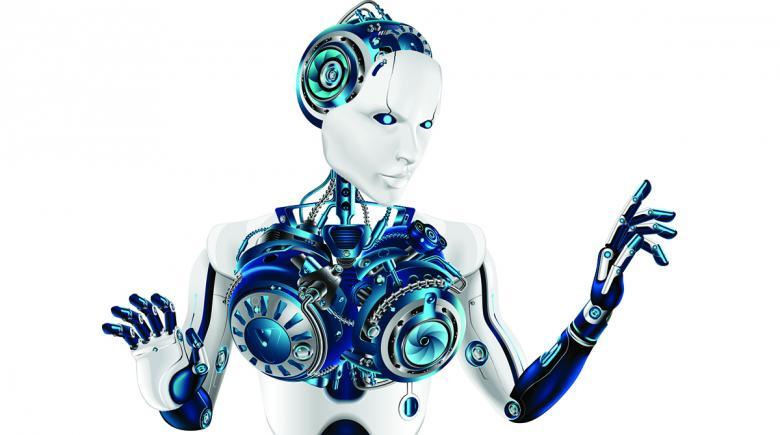 Humanoid robot woman