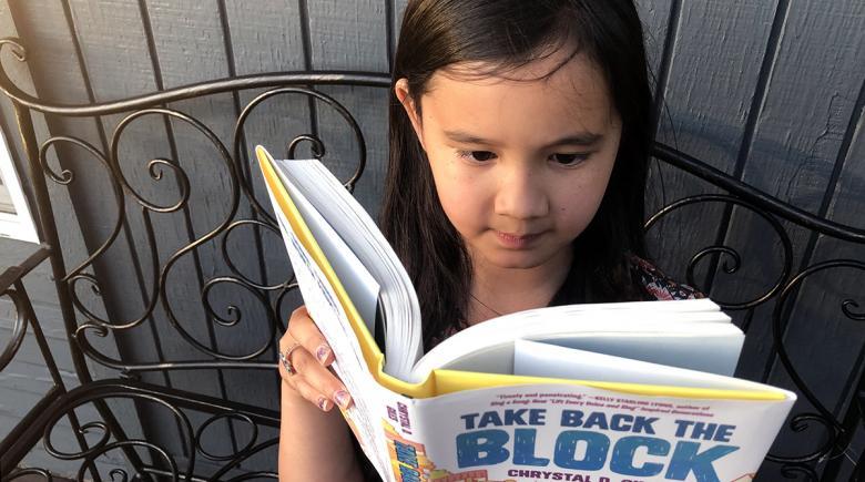 Olivia reads