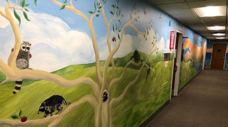 A hallway at CARES Northwest