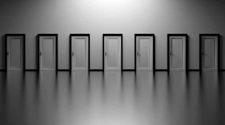 A series of doors to choose from