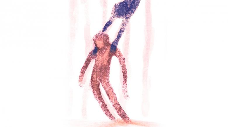 Illustration of falling person