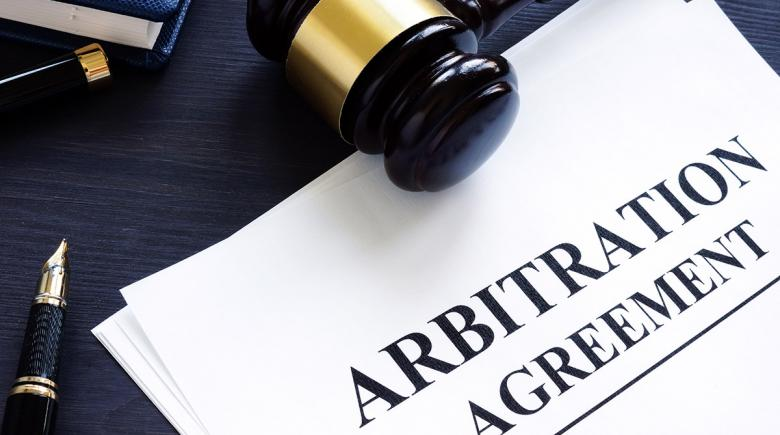 "Papers labeled ""Arbitration Agreement"""