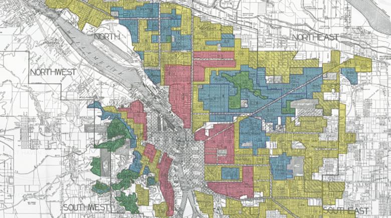 Portland redlining map