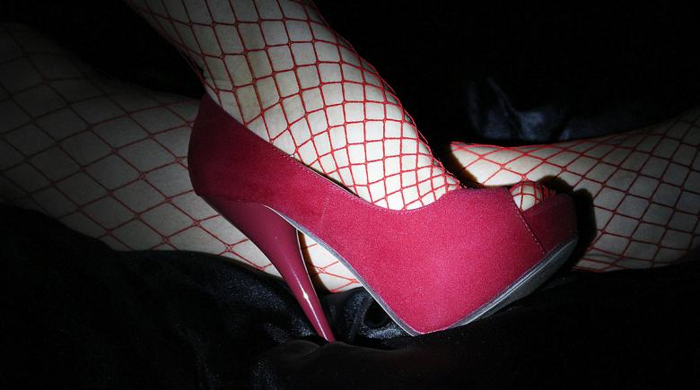 High heel and fishnet stockings