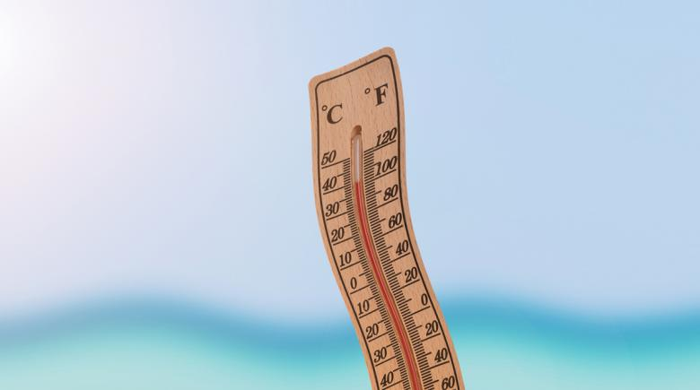 Thermometer in the heat