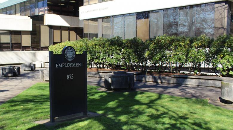 Sign from of the Oregon Employment Department