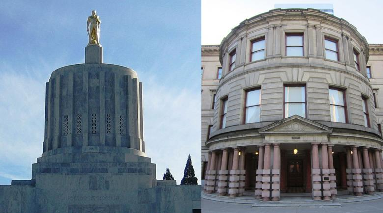 Oregon State Capitol and Portland City Hall