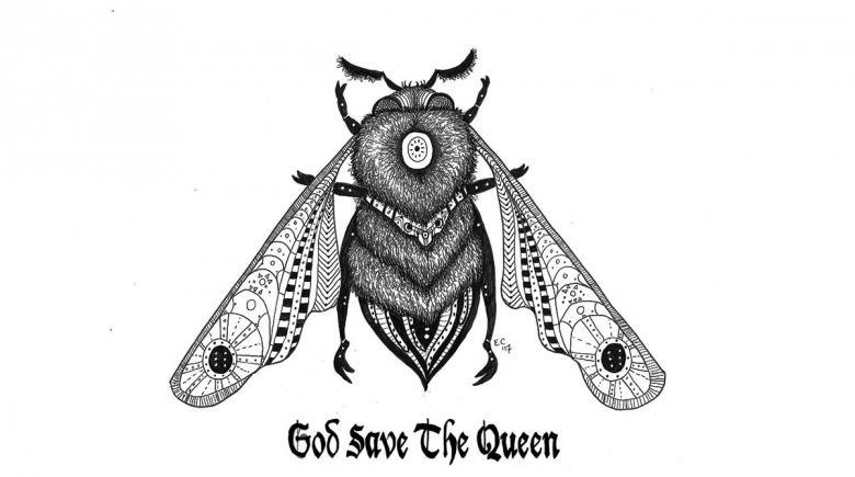 Sheeptoast editorial cartoon: God Save the Queen