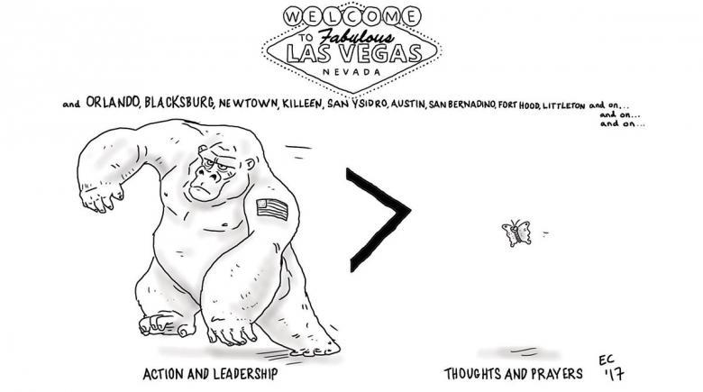 Sheeptoast editorial cartoon: Las Vegas