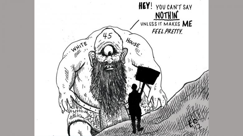 Sheeptoast editorial cartoon: Pretty Cyclops
