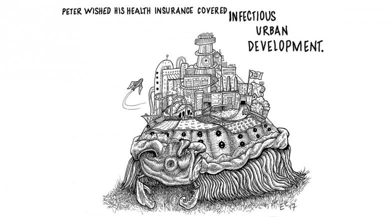 Sheeptoast cartoon: Urban Infection