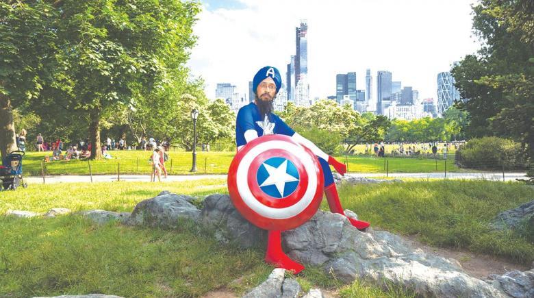 Vishavjit Singh as Sikh Captain America