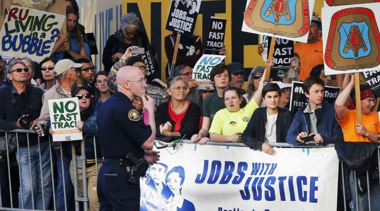 TPP protest in Portland