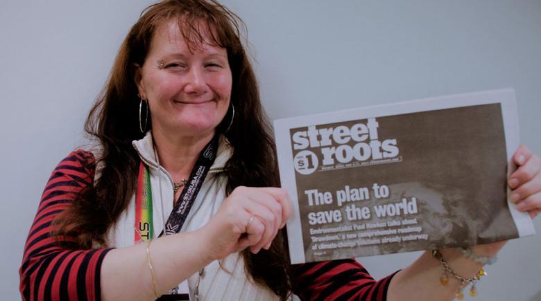 Street Roots vendor Irene