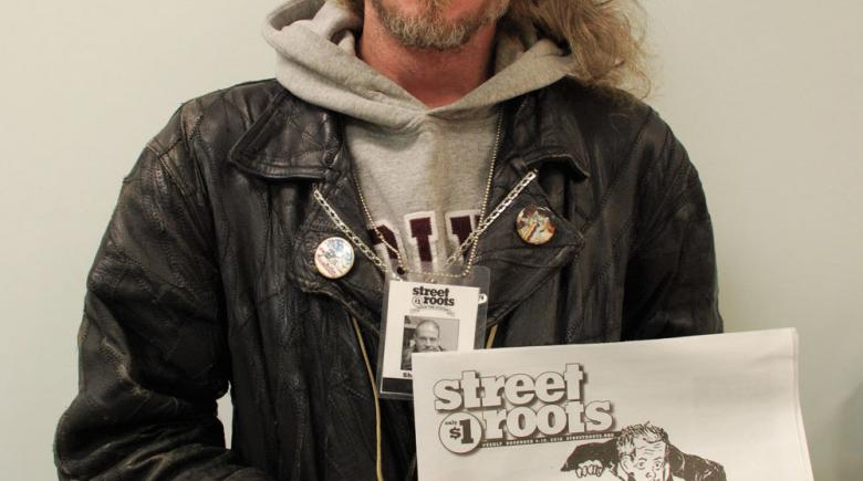 Street Roots vendor Shawn