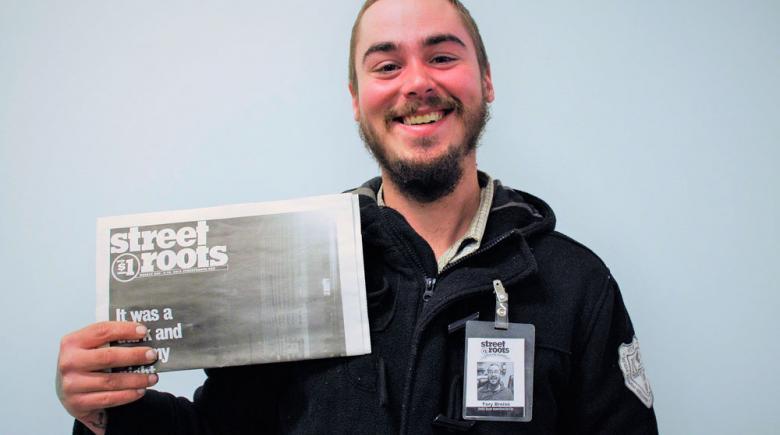 Street Roots vendor Tory
