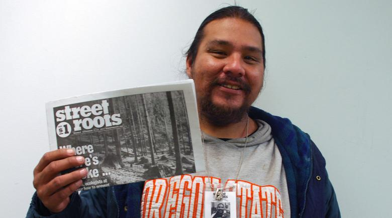 Street Roots vendor Woodrow