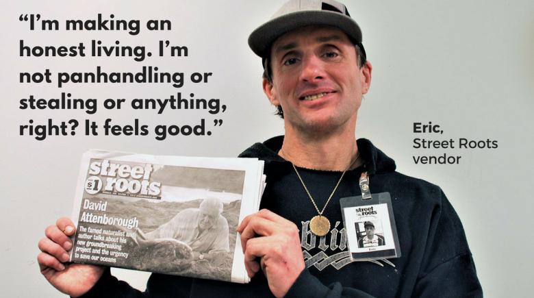 Street Roots vendor Eric