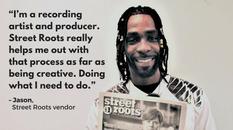 Street Roots vendor Jason