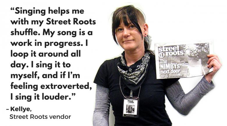Street Roots vendor Kellye