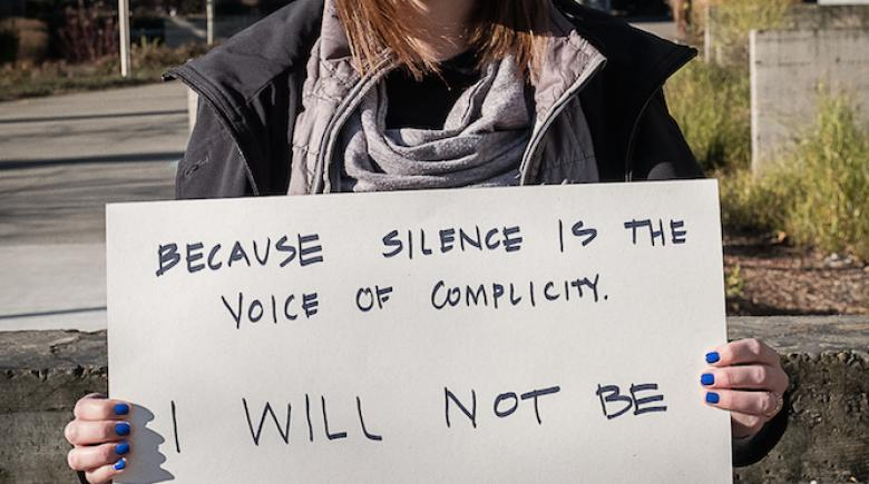Because silence is the voice of complicity. I will not be silent.