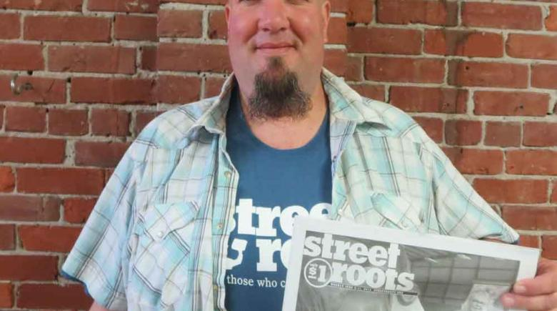Street Roots vendor Brian Castor.