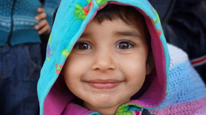 Young refugee from Afghanistan