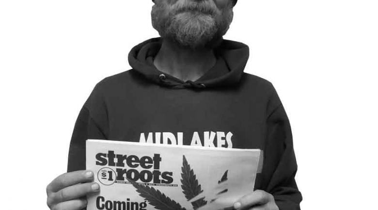 Street Roots vendor Dave Shoop