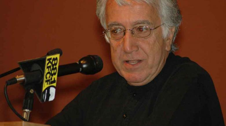David Barsamian founded the hour-long public affairs raido show 'Alternative Radio'.