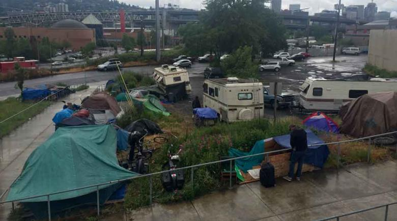 After a week, the City of Portland and ODOT continue to sweep people experiencing homelessness in SE PDX. People have no place to go, forcing people to live with zero shelter. Living conditions are horrible and dozens are defeated, wet and displaced. Unac