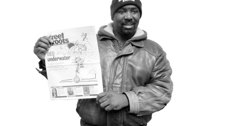 Jermaine Johnson Street Roots Vendor