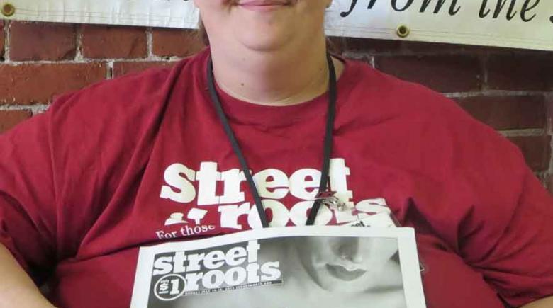 Street Roots vendor Katie Amberson