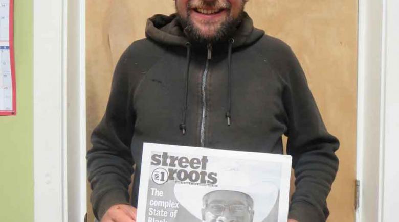 Street Roots vendor Michael Krieger.