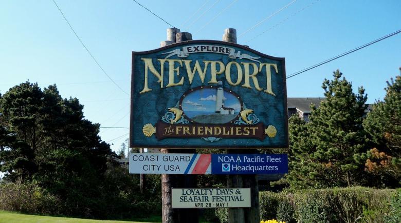 Newport sign