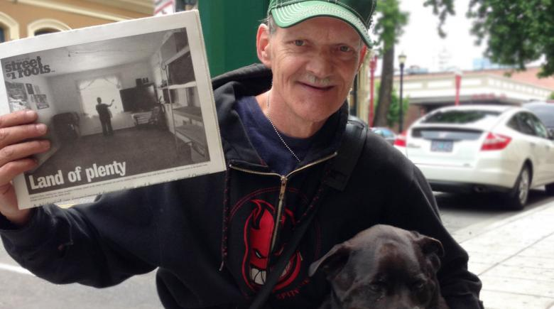 "Rick Phillips and his best friend Randy, the ""Top Dog of Old Town"""