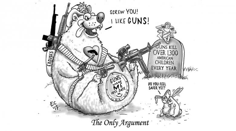 Sheeptoast editorial cartoon: The only argument