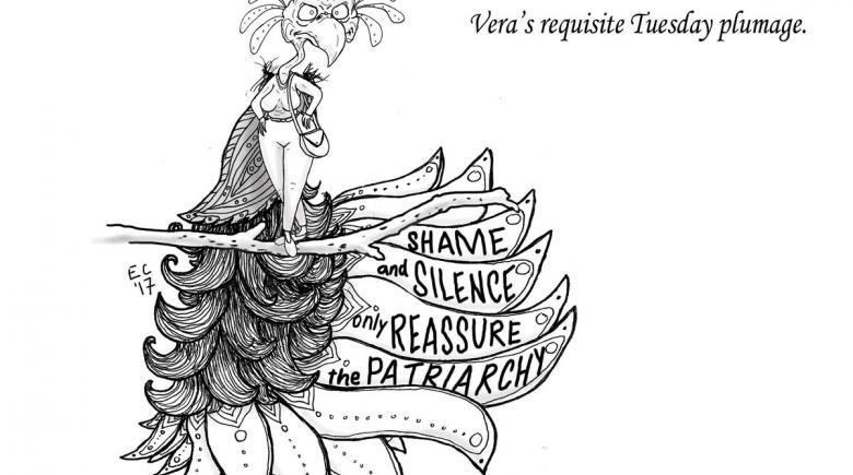 Sheeptoast editorial cartoon: The Psychiatric Birdbrain
