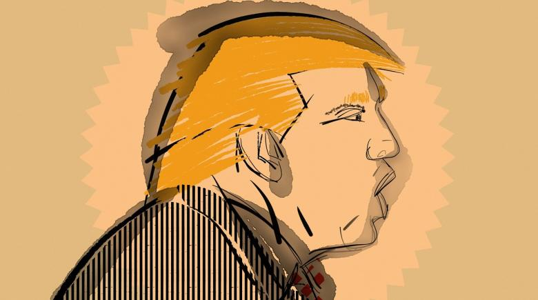 Illustration of Donald Trump