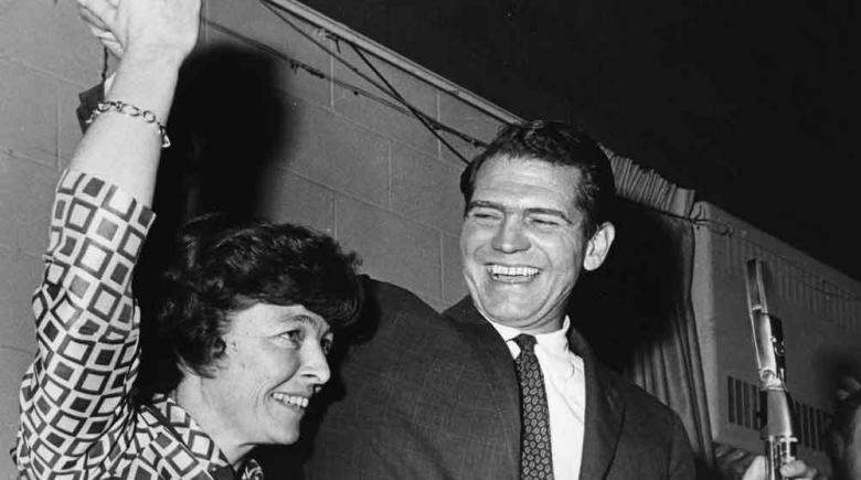 Ham and Julia Fish, Nick Fish's parents, on election night in 1968.