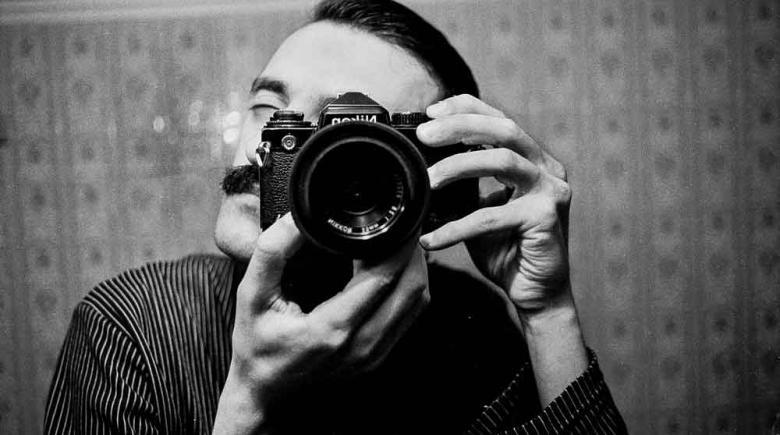 Greek photographer Vassilis Koltoukis. Koltoukis has traveled to 40 countries to document the world's street musicians.