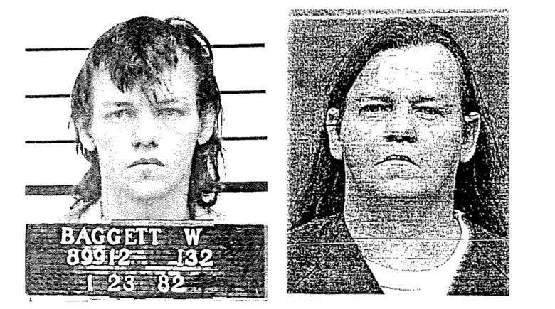 Billy Baggett's mugshots from different eras of his life