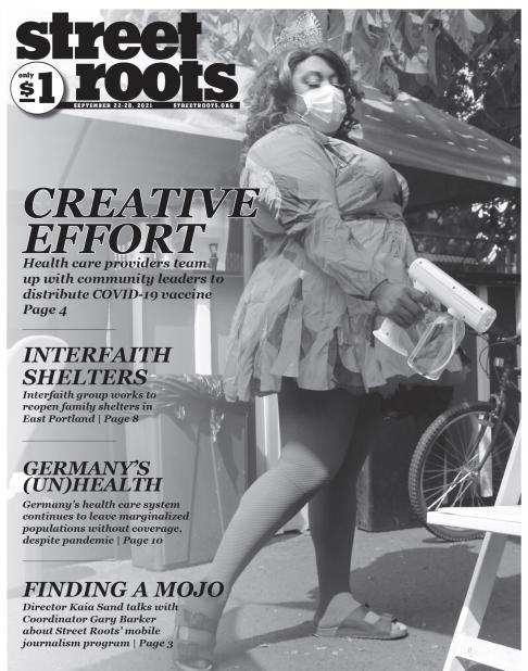Cover of Street Roots Sept. 22, 2021 issue.